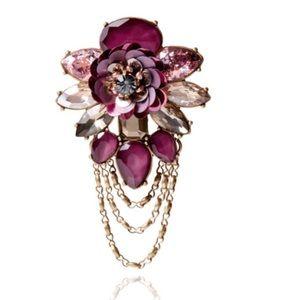 Artisan Floral Burst Brooch